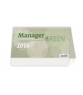 Stolní kalendář Manager Green 2018