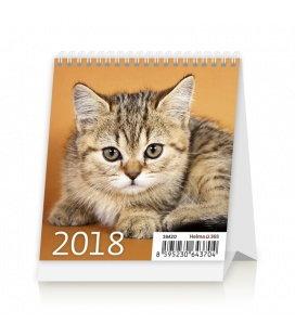 Stolní kalendář Mini Kittens 2018