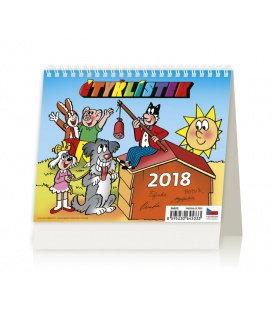 Stolní kalendář MiniMax Čtyřlístek 2018