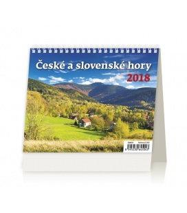 Table calendar MiniMax České a slovenské hory 2018