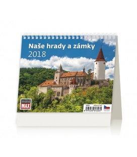 Stolní kalendář MiniMax Naše hrady a zámky 2018