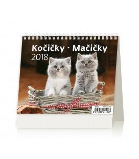 Stolní kalendář MiniMax Kočičky/Mačičky 2018