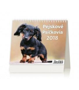 Stolní kalendář MiniMax Pejskové/Psíčkovia 2018