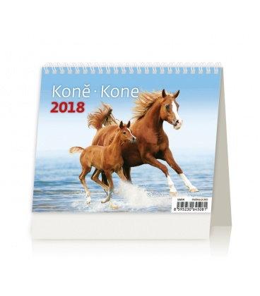 Stolní kalendář MiniMax Koně/Kone 2018