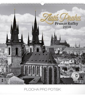 Nástěnný kalendář Zlatá Praha Franze Kafky – Jakub Kasl 2018