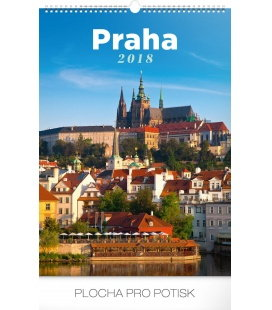 Nástěnný kalendář Praha 2018