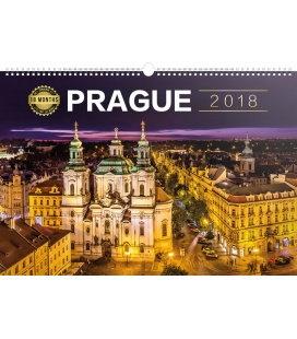 Nástěnný kalendář Praha 18měsíční 2018