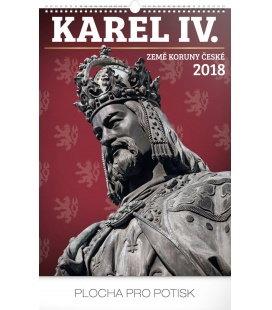 Nástěnný kalendář Karel IV. – Země Koruny české 2018