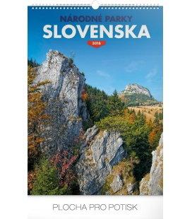 Nástěnný kalendář Národné parky Slovenska SK 2018