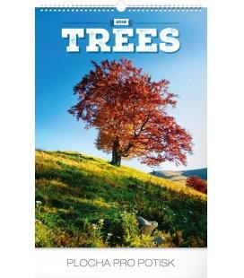 Nástěnný kalendář Stromy 2018
