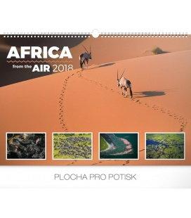 Nástěnný kalendář Afrika ze vzduchu 2018
