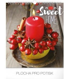 Nástěnný kalendář Sweet Home 2018