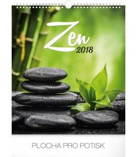 Nástěnný kalendář Zen 2018