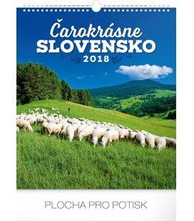 Nástěnný kalendář Čarokrásne Slovensko SK 2018