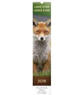 Nástěnný kalendář Lesní zvěř – lesná zver 2018