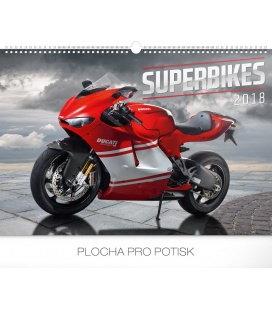 Nástěnný kalendář Superbikes 2018