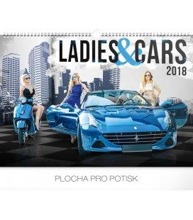 Nástěnný kalendář Ladies & Cars 2018