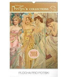 Nástěnný kalendář Alfons Mucha 2018