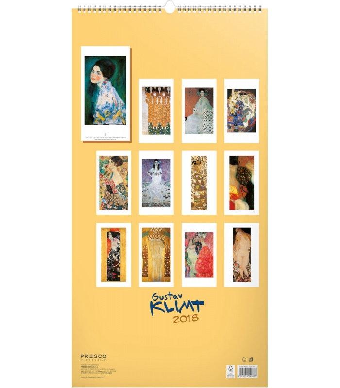 Wall calendar Gustav Klimt 2018