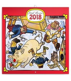 Nástěnný kalendář Josef Lada – Řemesla 2018