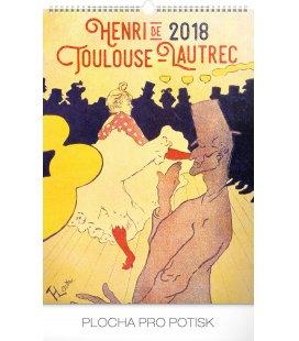 Nástěnný kalendář Henri de Toulouse-Lautrec 2018