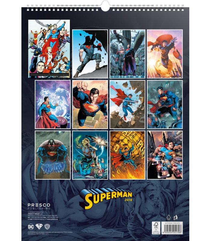 Calendar Book Covers : Wall calendar superman comic book covers