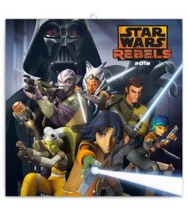 Nástěnný kalendář Star Wars Rebels – Povstalci 2018