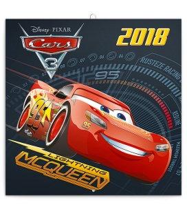 Nástěnný kalendář Cars 3 2018, se samolepkami