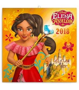 Nástěnný kalendář Elena Z Avaloru 2018