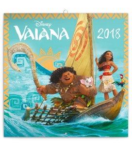 Nástěnný kalendář Odvážná Vaiana: Legenda o konci světa 2018