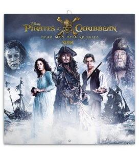 Nástěnný kalendář Pirates of the Caribbean – Dead Men Tell No Tales 2018