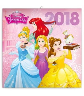 Nástěnný kalendář Princezny 2018