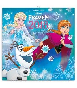 Nástěnný kalendář Frozen – Ledové království - se samolepkami 2018