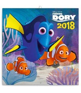 Nástěnný kalendář Hledá se Dory - s pexesem 2018