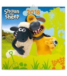 Nástěnný kalendář Ovečka Shaun 2018
