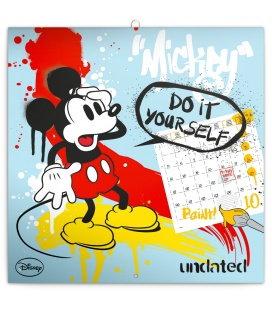 Nástěnný kalendář Mickey Mouse s omalovánkami, nedatovaný 2018