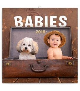 Nástěnný kalendář Babies – Věra Zlevorová 2018