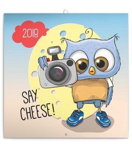 Nástěnný kalendář Chytrá soví rodinka 2018