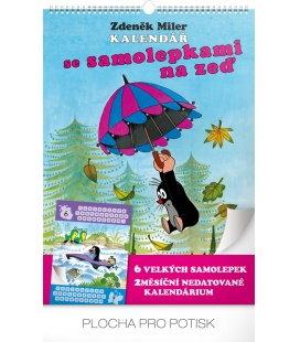 Nástěnný kalendář Krteček, se samolepkami 2018
