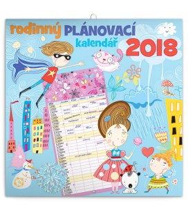 Nástěnný kalendář - Rodinný plánovací 2018