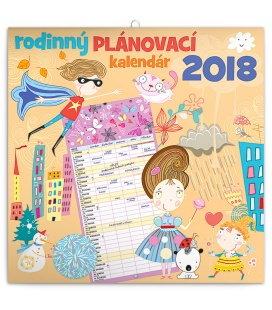 Nástěnný kalendář - Rodinný plánovací SK 2018