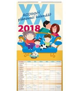 Nástěnný kalendář Rodinný plánovací XXL 2018