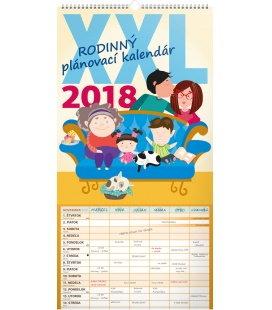 Nástěnný kalendář Rodinný plánovací XXL SK 2018