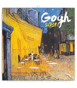 Nástěnný kalendář Vincent van Gogh 2018
