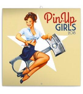 Nástěnný kalendář Pin-up Girls 2018