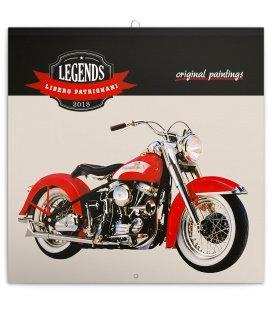 Nástěnný kalendář Legends – Libero Patrignani 2018
