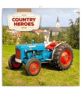Nástěnný kalendář Traktory 2018