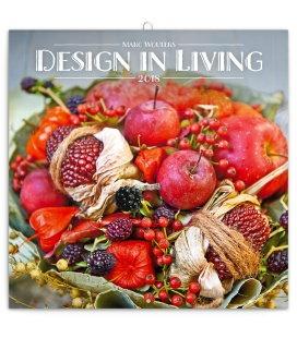 Nástěnný kalendář Design in Living – Marc Wouters 2018