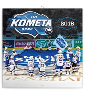 Nástěnný kalendář HC Kometa Brno 2018