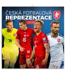 Nástěnný kalendář Česká fotbalová reprezentace 2018